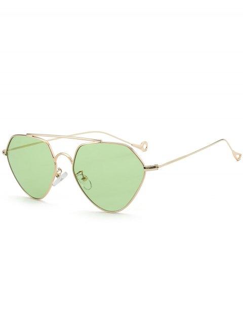 lady Asymmetric Hollow Out Leg Geometrical Sunglasses - LIGHT GREEN  Mobile