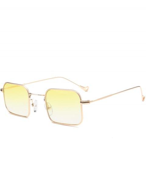 fancy Ombre Asymmetric Hollow Out Leg Rectangle Sunglasses - YELLOW  Mobile