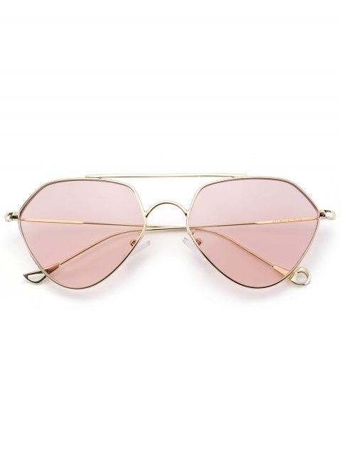 ladies Asymmetric Hollow Out Leg Geometrical Sunglasses - PINK  Mobile