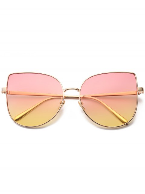 outfit Gradient Color Cat Eye Sunglasses - PINK  Mobile