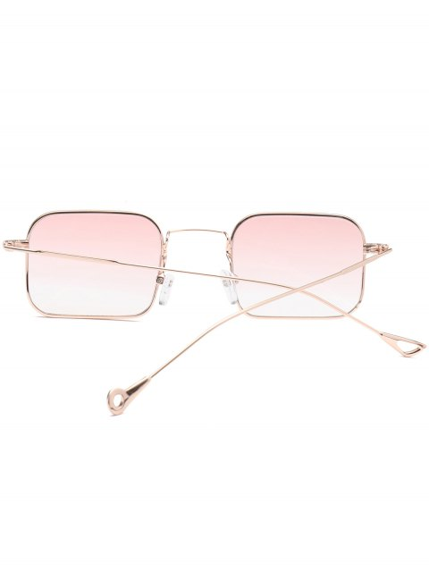 trendy Ombre Asymmetric Hollow Out Leg Rectangle Sunglasses - PINK  Mobile