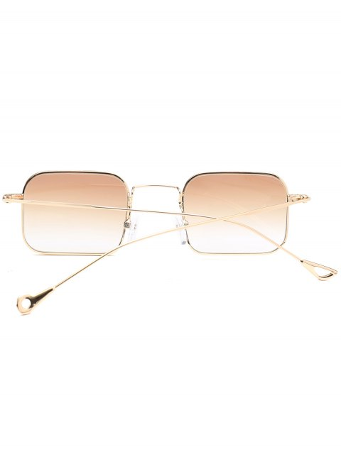 fashion Ombre Asymmetric Hollow Out Leg Rectangle Sunglasses - TEA-COLORED  Mobile