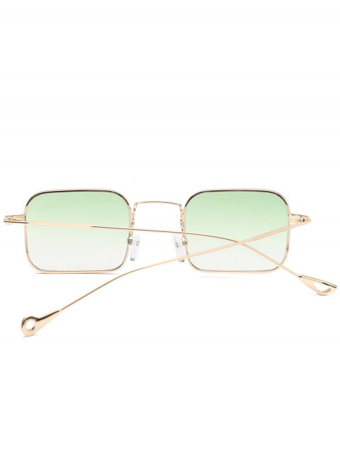latest Ombre Asymmetric Hollow Out Leg Rectangle Sunglasses - GREEN  Mobile