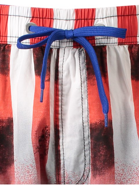 outfit Star and Stripe Printed Board Shorts - RED 3XL Mobile