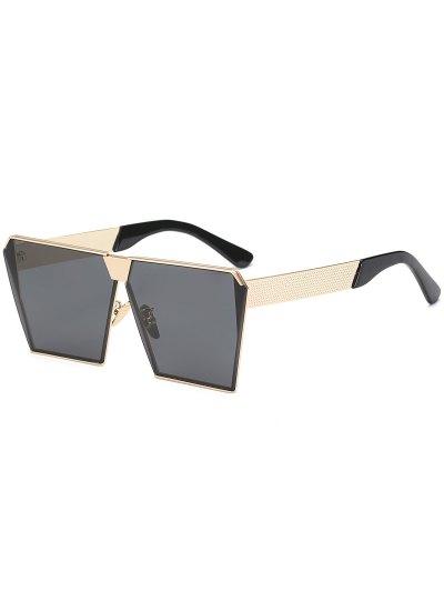خمر الإطار مربع النظارات الشمسية - أسود