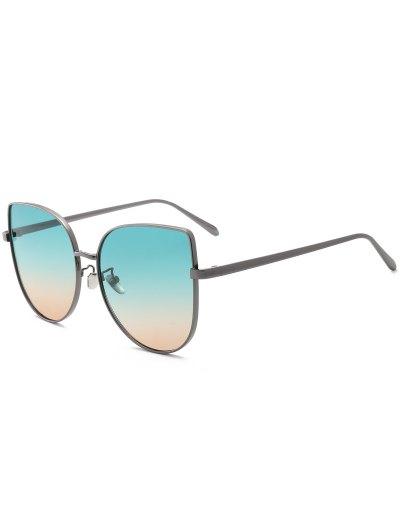 التدرج اللون القط العين النظارات الشمسية - أخضر