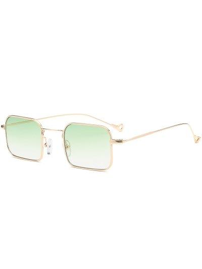النظارات الشمسية المستطيل أومبير غير المتماثلة الجوف خارج مستطيل - أخضر