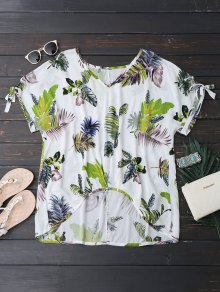 Oversized Tropical Asymmetrical Top