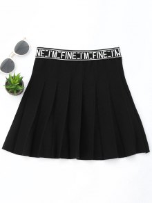 Knitting Letter A-Line Mini Skirt