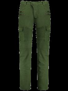 زيبس السائق السراويل مع جيوب متعددة - أخضر 3xl