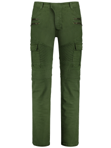 Zips Biker Pants with Multi Pockets