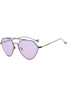 Asymmetric Hollow Out Leg Geometrical Sunglasses