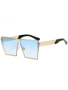 Vintage Square Frame Sunglasses - Light Blue
