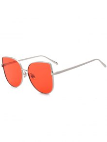 Gradient Color Cat Eye Sunglasses - Red