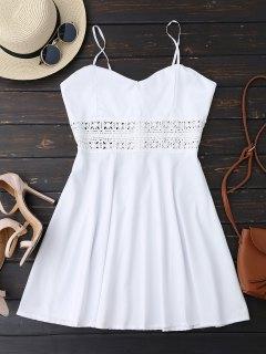 Cami Crochet Trim Skater Sun Dress - White Xl