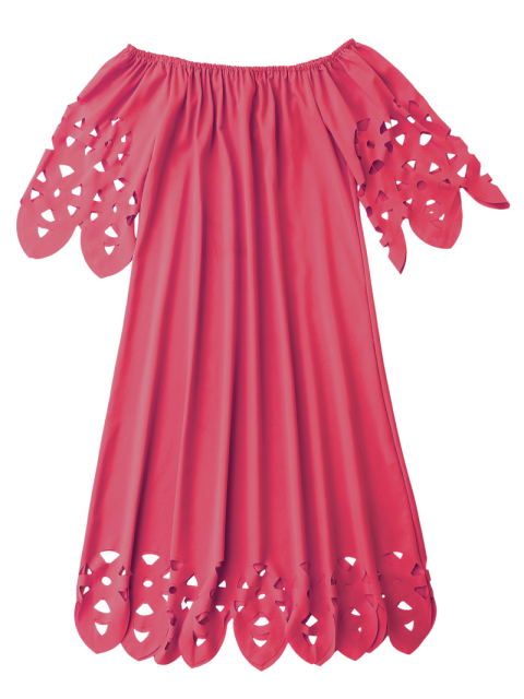 latest Off The Shoulder Flared Dress - RED S Mobile