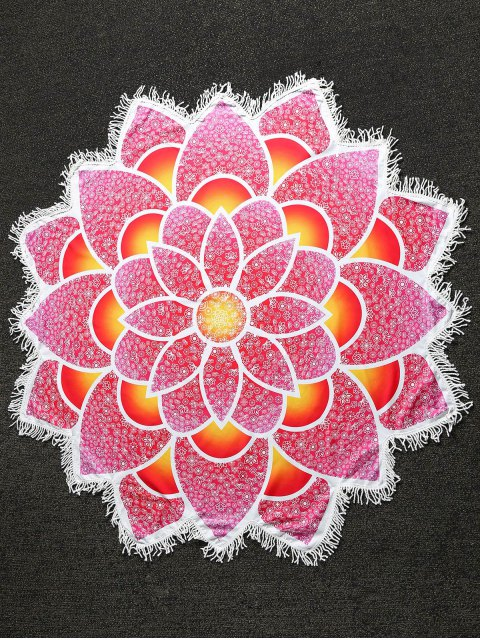 new Mandala Lightweight Beach Throw - RED ONE SIZE Mobile