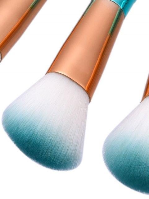 latest 11Pcs Nylon Mermaid Makeup Brushes Set - BLUE  Mobile