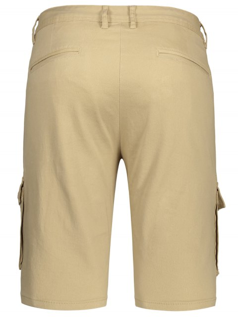 women's Multi Pockets Bermuda Cargo Shorts - KHAKI 33 Mobile