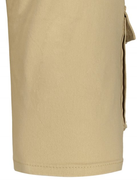 best Multi Pockets Bermuda Cargo Shorts - KHAKI 36 Mobile