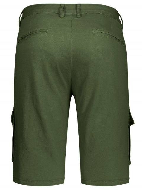 hot Multi Pockets Bermuda Cargo Shorts - ARMY GREEN 35 Mobile
