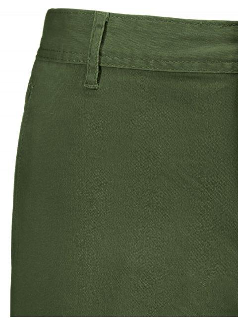 shop Multi Pockets Bermuda Cargo Shorts - ARMY GREEN 34 Mobile