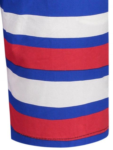 women Star and Stripe Printed Drawstring Board Shorts - BLUE 2XL Mobile