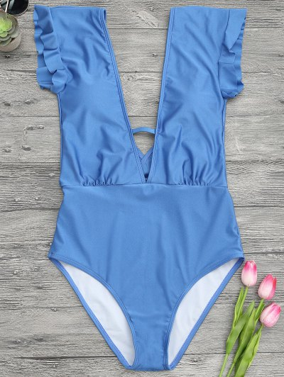 يغرق غطس قطعة واحدة ملابس السباحة - أزرق L
