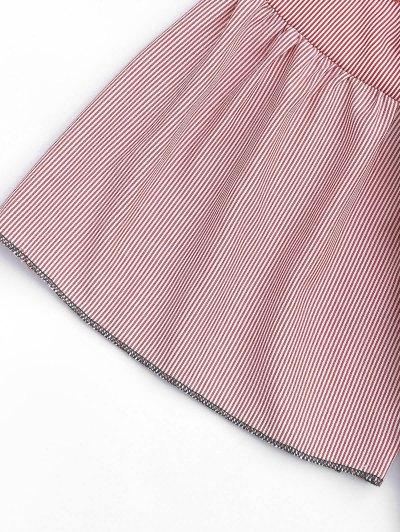 Ruffles Stripes Sheer Embroidered Shift Dress от Zaful.com INT