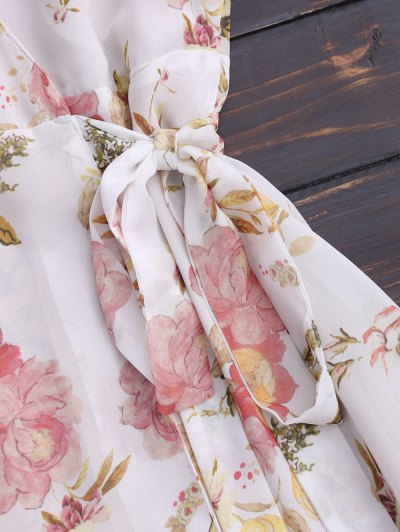 Floral Flounces Wrap Mini Dress от Zaful.com INT