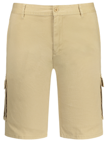 Multi Pockets Bermuda Cargo Shorts - Khaki 38