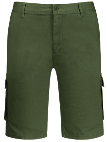 Multi Pockets Bermuda Cargo Shorts - Army Green 34