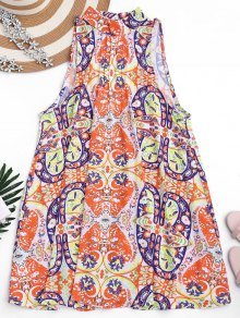 Graphic Cut Out Tunic Dress