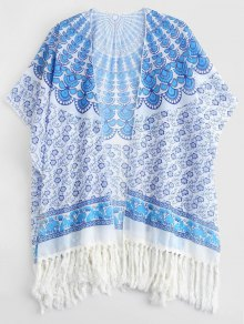 Tassels Poncho Beach Cover Up