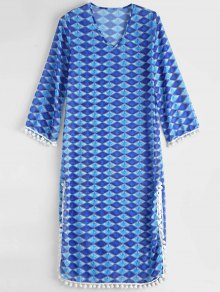 Diamond Chiffon Beach Cover Up Dress