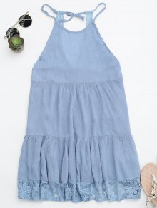 Halter Tiered Beach Cover Up Dress