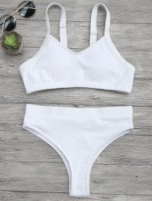 High Cut Bralette Bikini Top and Bottoms