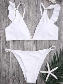 Plunge Adjustable String Bikini Set