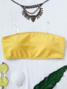 Textured Bandeau Bikini Top