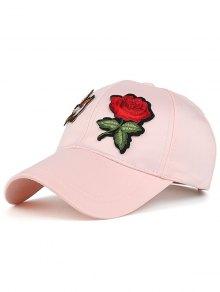 Bird Rose Patchwok Baseball Hat - Pink