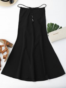 Open Back Strappy Shift Dress - Black S