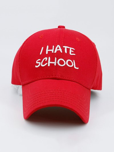I Hate School Embroideried Design Baseball Hat от Zaful.com INT