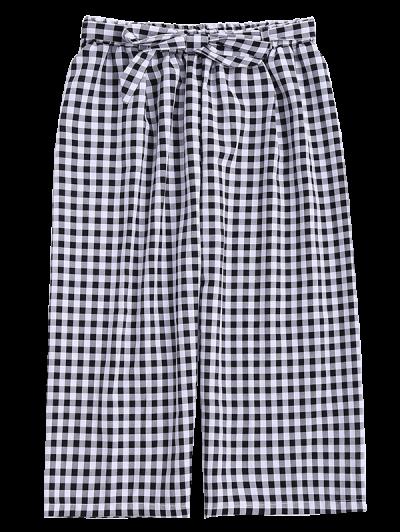 Gingham Wide Leg Culotte Gaucho Pants от Zaful.com INT