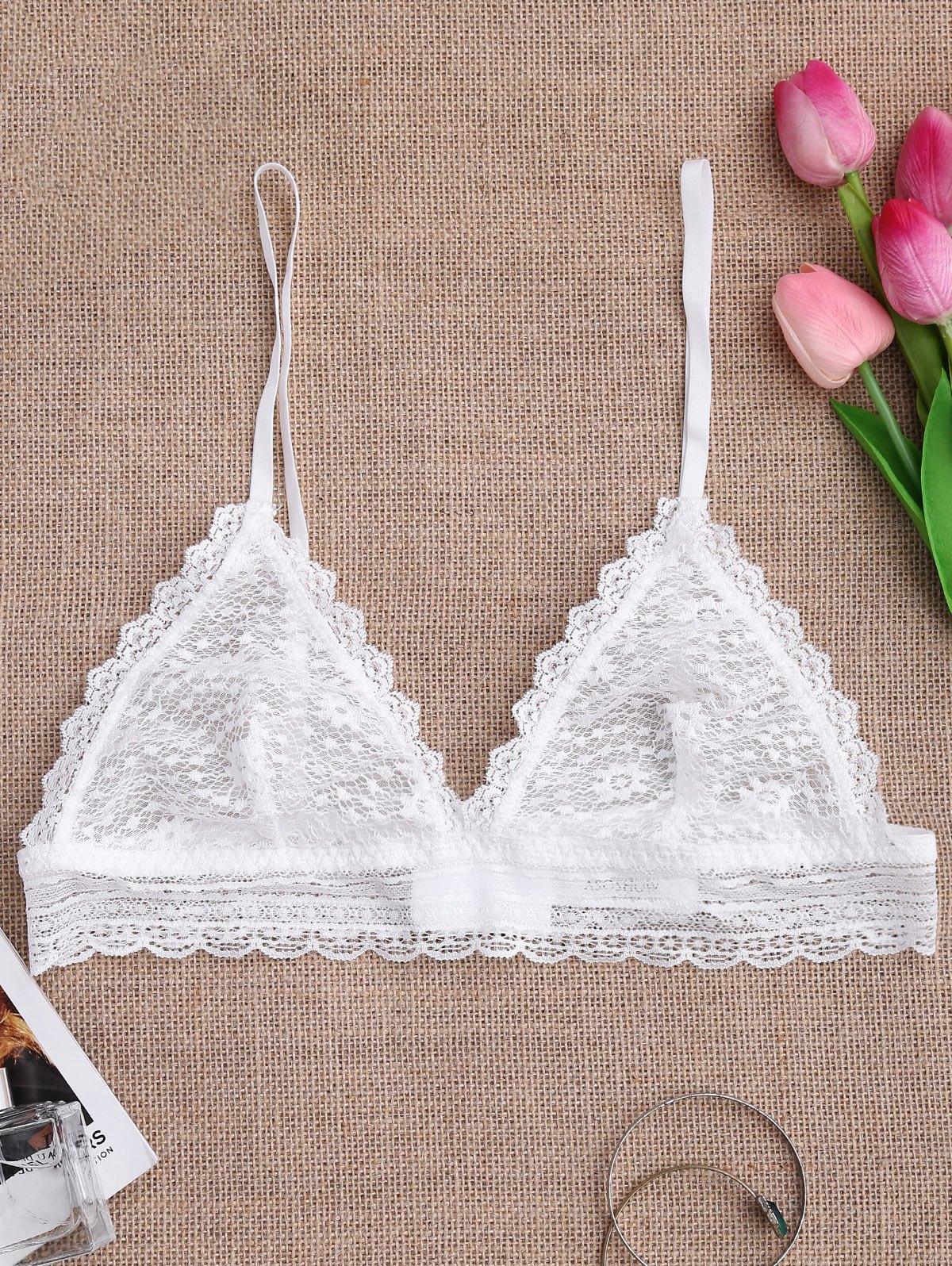 Soft Sheer Full Lace Bralette 215324502