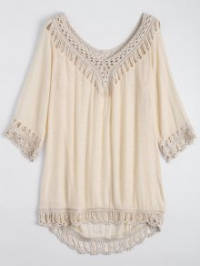 Relaxed Fit Beach Tunic Cover Up Dress