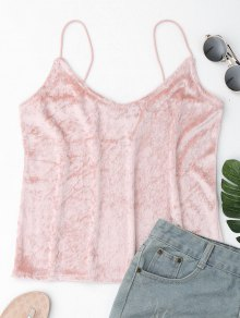 Crushed Velvet Camisole Top Cover Up