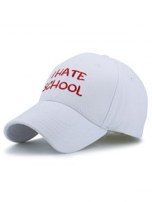 I Hate School Embroideried Design Baseball Hat