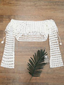 Crochet Off The Shoulder Cover Up Top