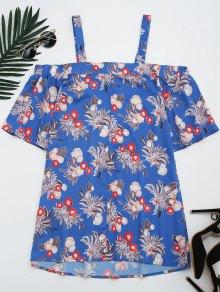 Floral Cold Shoulder Shift Mini Dress