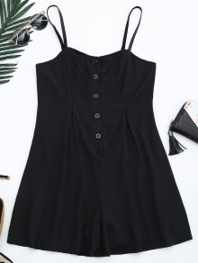 Cami Lined Half Buttoned Romper